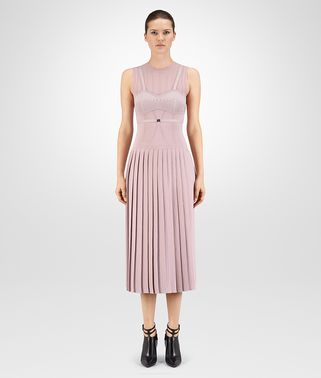 ROBE EN LAINE LUREX DOUCE ROSE BOUVARD