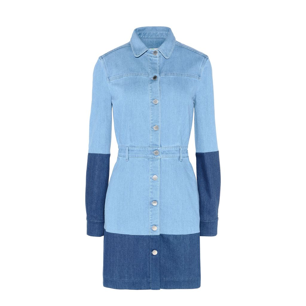 Patchwork Denim Shirt Dress - STELLA MCCARTNEY