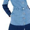 STELLA McCARTNEY Patchwork Denim Shirt Dress Mini D a