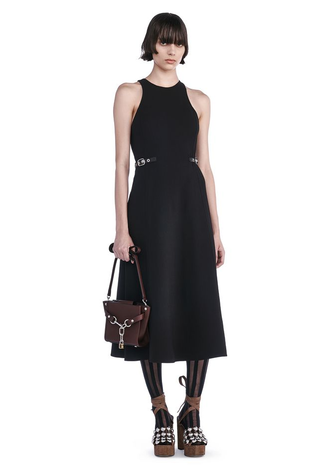 ALEXANDER WANG 3/4 Length dresses Women A-LINE RACER BACK DRESS WITH WAIST TABS
