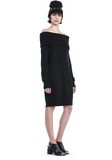 T by ALEXANDER WANG CASHWOOL KNIT OFF THE SHOULDER PULLOVER DRESS  KNIT DRESS Adult 8_n_f