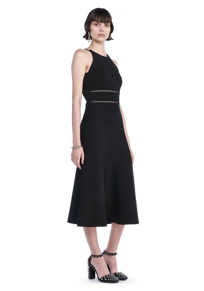 ALEXANDER WANG 3/4 Length dresses Women TANK MIDI DRESS WITH BIKE CHAIN STRAPS