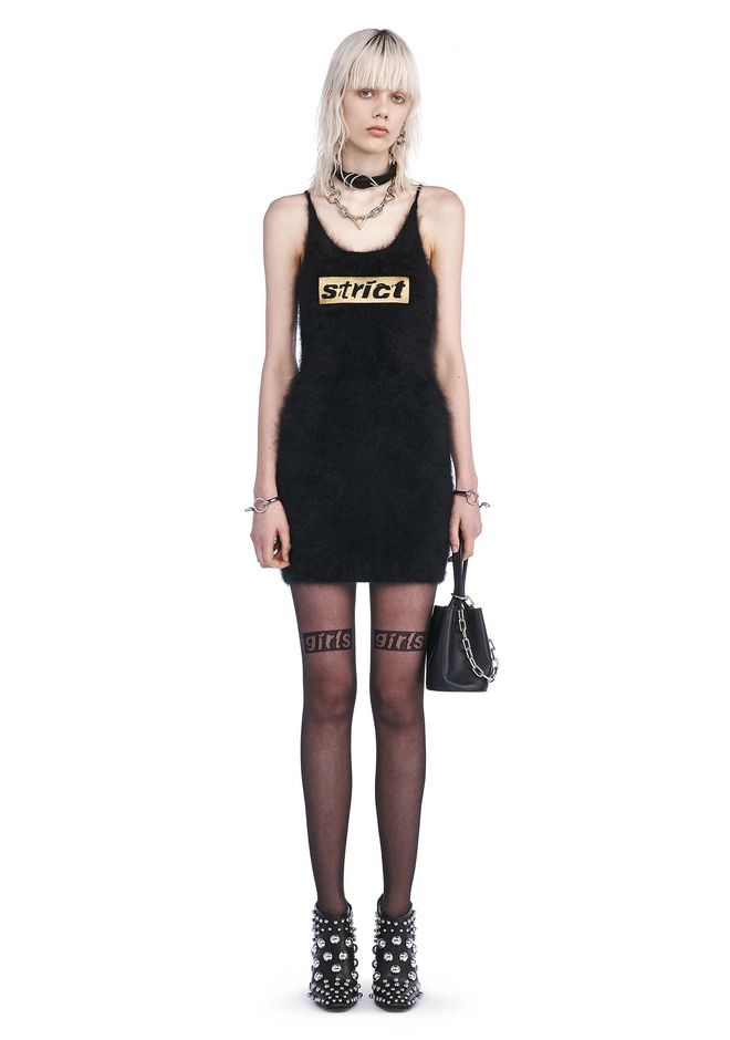 ALEXANDER WANG Short Dresses Women CAMI DRESS WITH STRICT EMBROIDERY