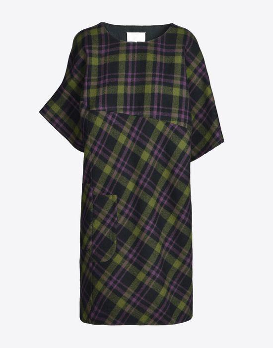 MAISON MARGIELA Light tartan wool dress Short dress D f