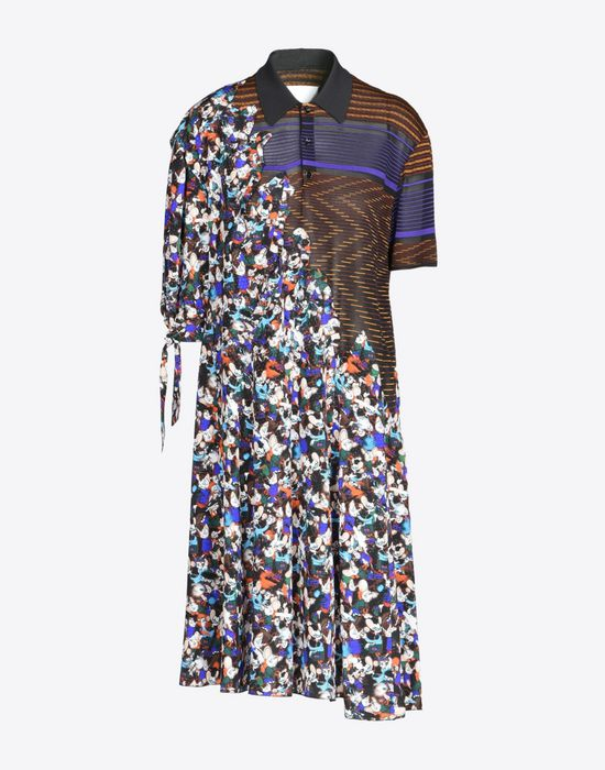 MAISON MARGIELA Fused silk dress Short dress D f