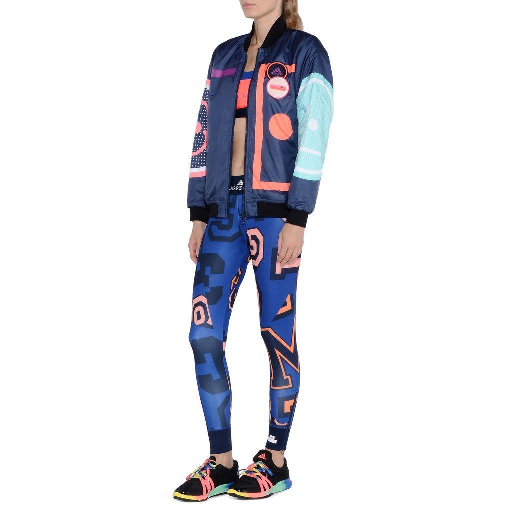 Blue word print leggings  - ADIDAS by STELLA McCARTNEY