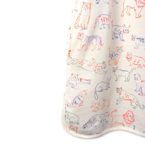 Robe sweat-shirt Mystic avec imprimé chat