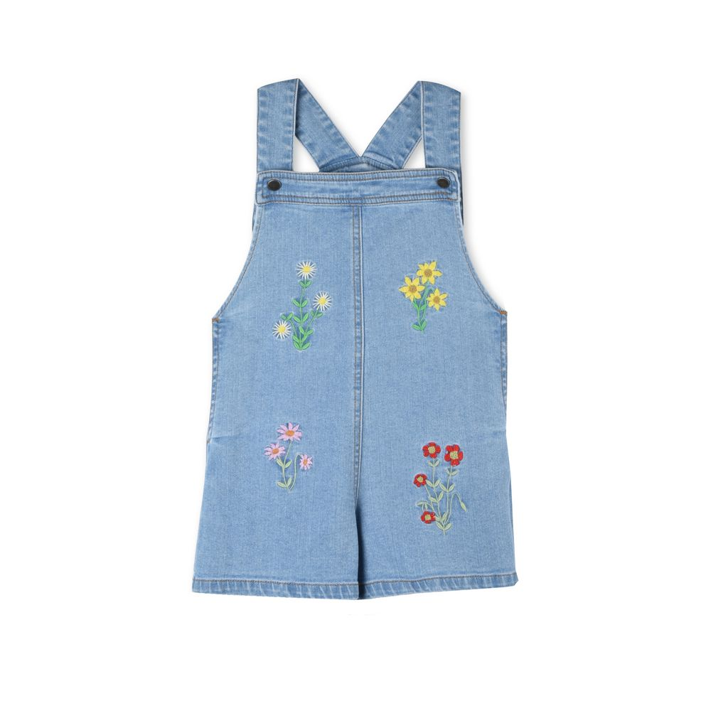 Floral Embroidered Edith All-in-One - STELLA MCCARTNEY KIDS