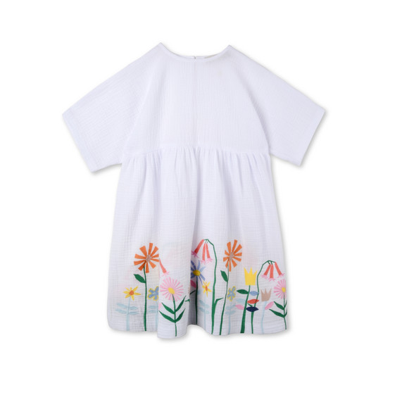 Embroidered Flowers Corie Dress