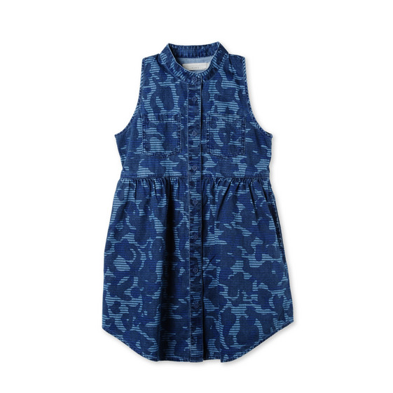 Blue Camo Print Capucine Dress