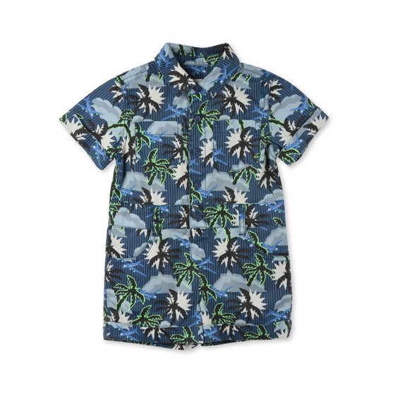 Blue Hawaiian Print James All-in-One