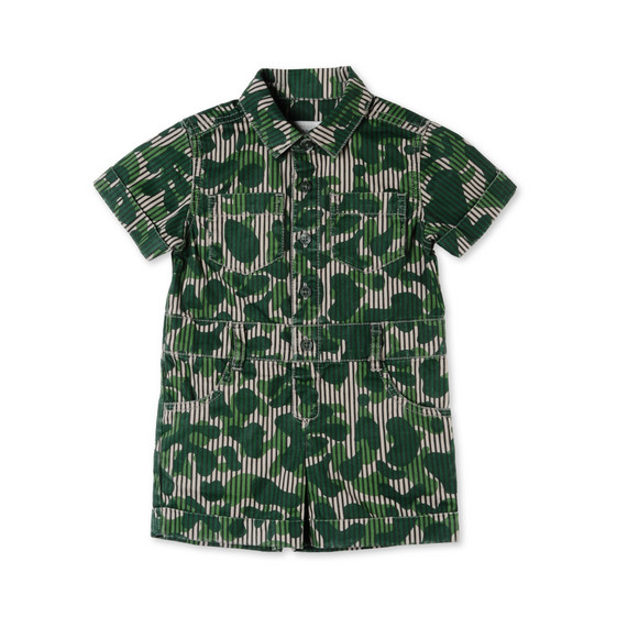 Khaki Camo Print James All-in-One