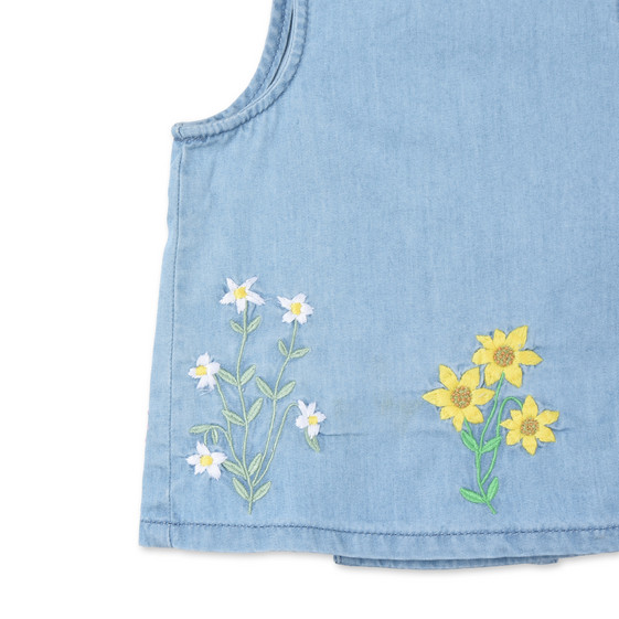 Embroidered Flowers Trixie Top