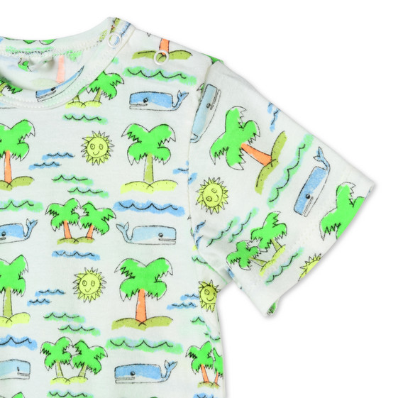 Fluro Beach Print All-in-One