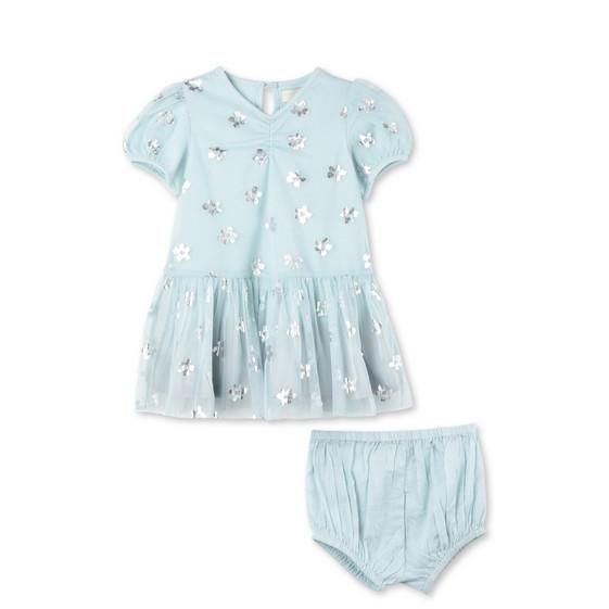 Blue Floral Print Missy Dress