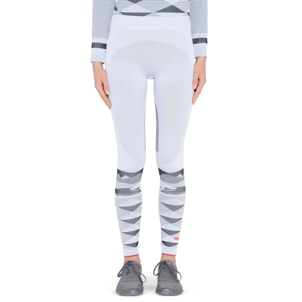 White Wintersports Seamless Leggings - ADIDAS by STELLA McCARTNEY