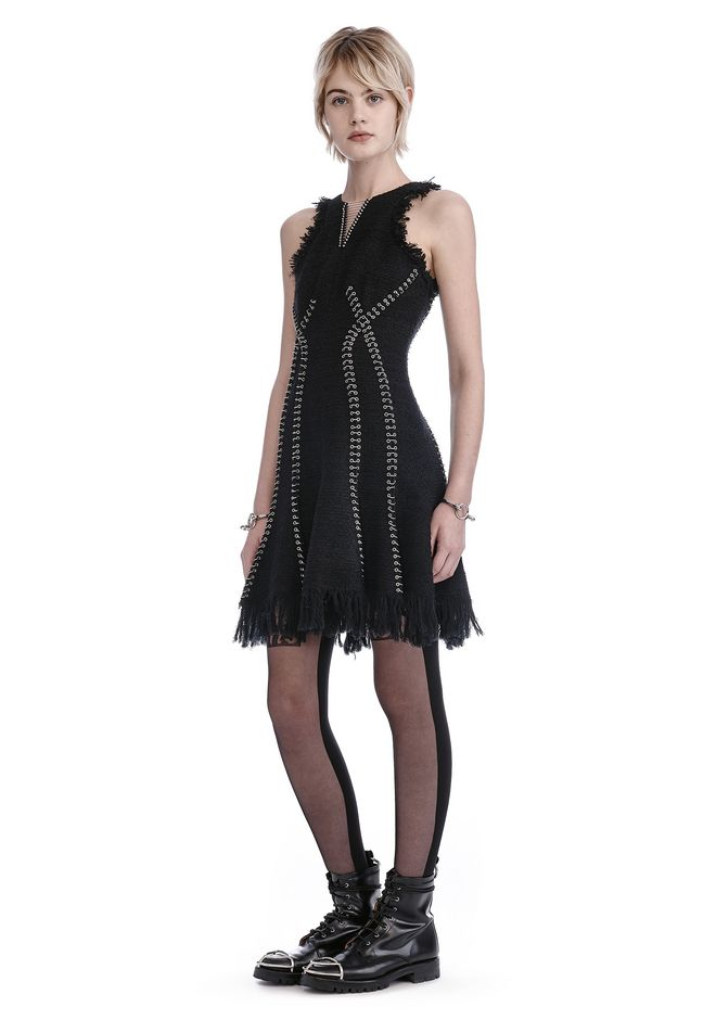 ALEXANDER WANG 3/4 Length dresses EXCLUSIVE DRESS WITH RING AND BARBELL PIERCING DETAIL