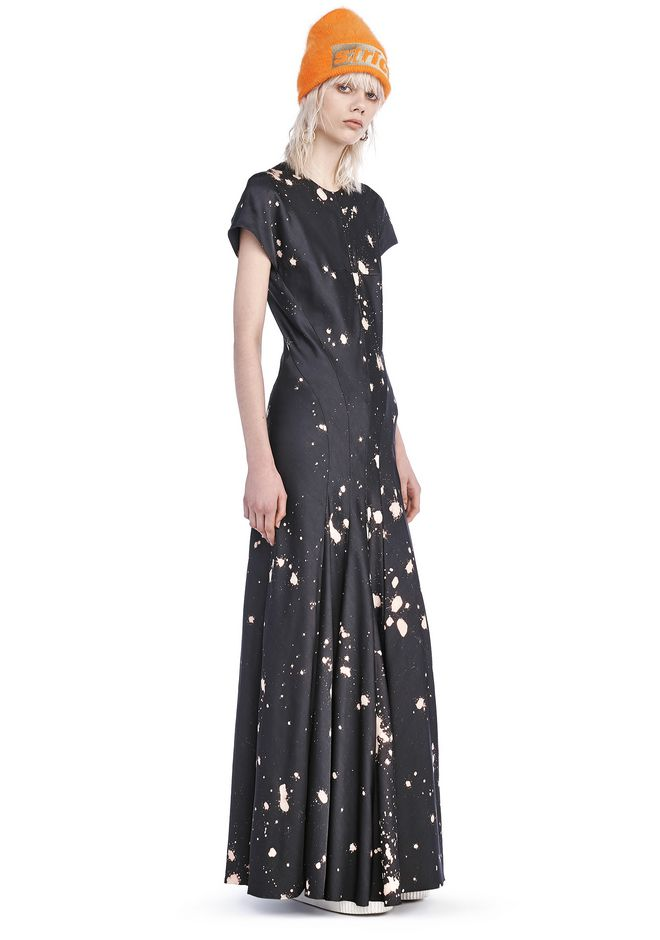 ALEXANDER WANG Long dresses Women RUNWAY SPLATTER PRINT T-SHIRT DRESS