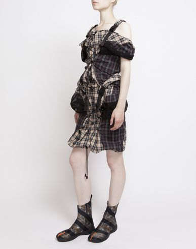 MAISON MARGIELA ミニワンピース・ドレス D Look 19: バックパック ドレス f