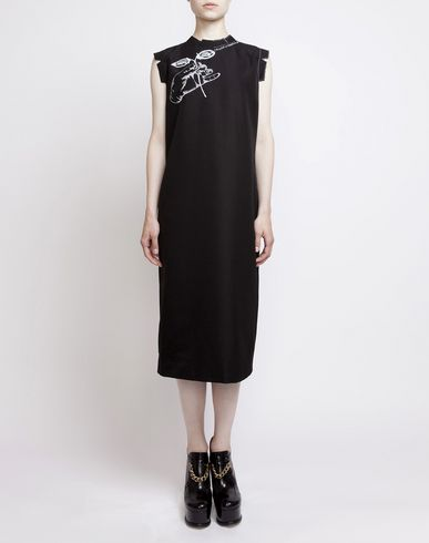 MAISON MARGIELA 3/4 length dress D Look 2: Embroidered Shift Dress f