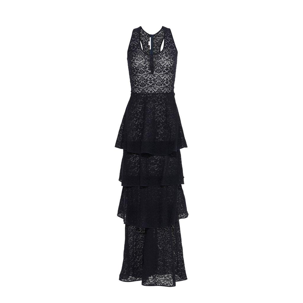 Navy Lace Knit Dress - STELLA MCCARTNEY