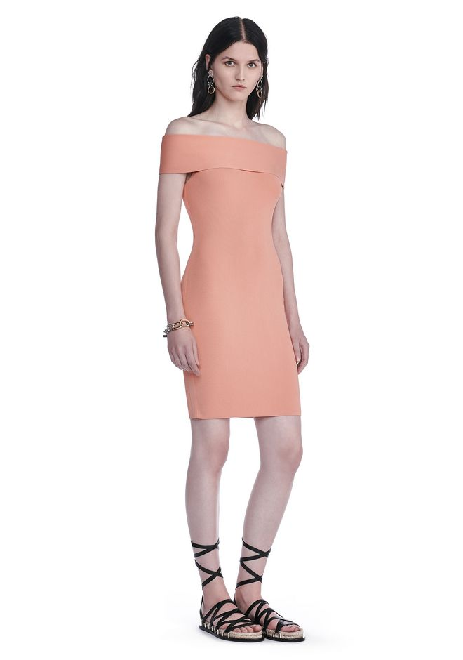 T by ALEXANDER WANG Kurze Kleider Für-sie FITTED OFF THE SHOULDER DRESS