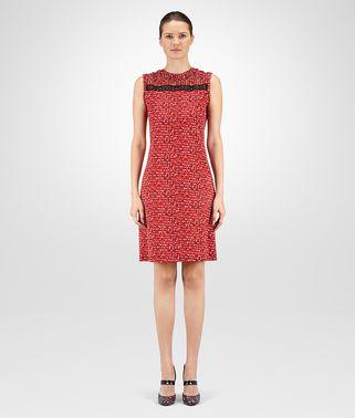 多彩色印花针织棉连衣裙,配以蕾丝细节