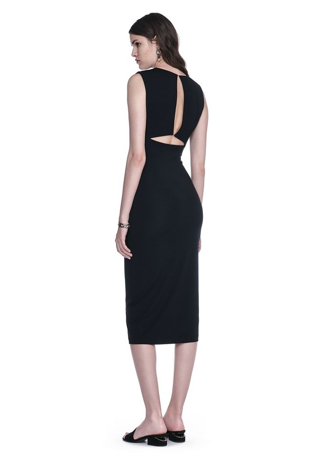 T by ALEXANDER WANG Short Dresses Women MODAL SPANDEX SLEEVELESS DRESS WITH BACK SLIT DETAIL