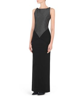 KARL LAGERFELD KARL LONG FITTED EVENING DRESS
