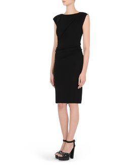 KARL LAGERFELD ELASTIC DETAIL DRESS