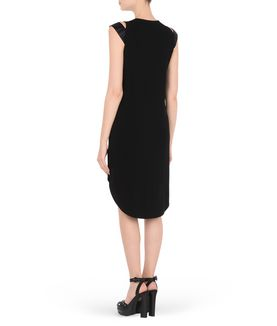 KARL LAGERFELD ELASTIC STRAP DRESS