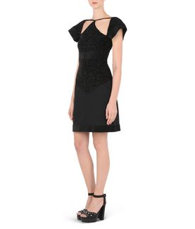 KARL LAGERFELD KARL EMBELLISHED MINI DRESS