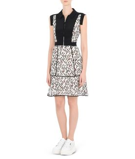 KARL LAGERFELD GRAPHIC K/PRINT DRESS