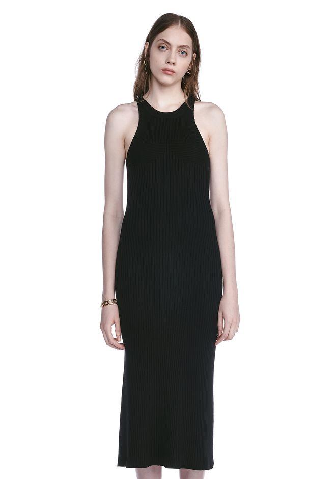 T by ALEXANDER WANG 3/4 Length dresses SLEEVELESS KNIT RIBBED DRESS