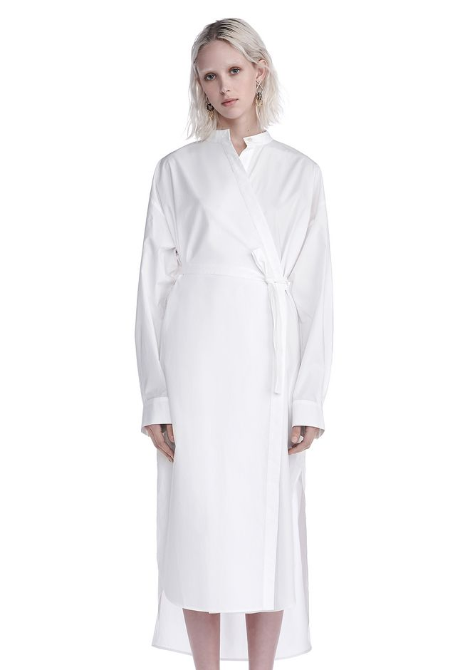 T by ALEXANDER WANG Long dresses COTTON POPLIN LONG SLEEVE SHIRT DRESS