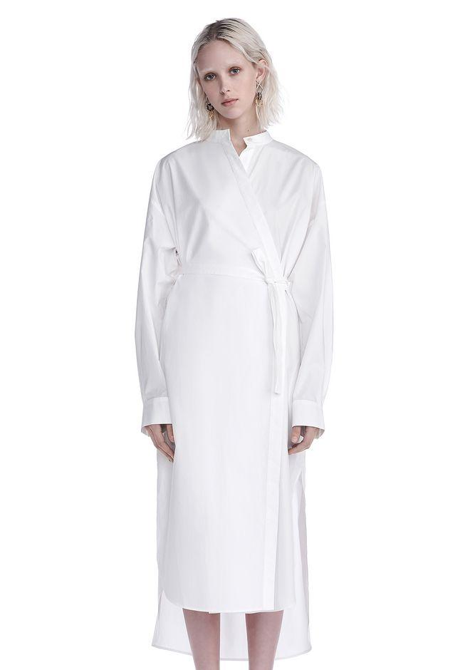 T by ALEXANDER WANG Long dresses COTTON POPLIN LONG SLEEVE SHIRT DRESS