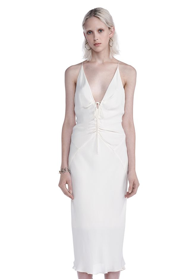 T by ALEXANDER WANG 3/4 Length dresses FRONT RUSCHED CAMI DRESS