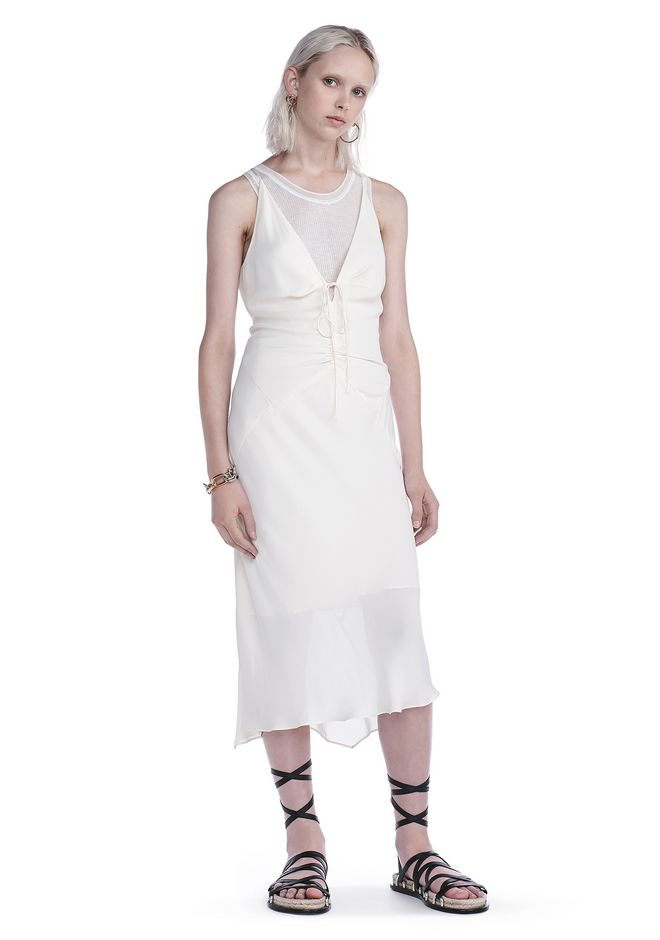 T by ALEXANDER WANG 3/4 Length dresses Women FRONT RUSCHED CAMI DRESS
