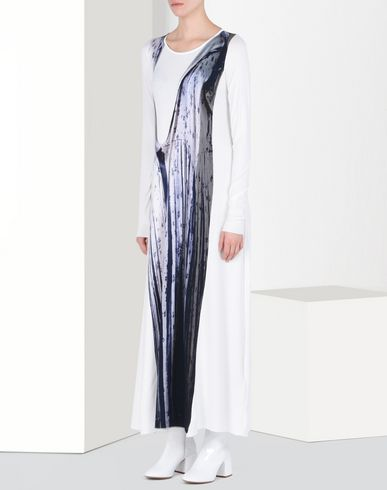 MM6 by MAISON MARGIELA ロングワンピース・ドレス D トロンプルイユ ドレス f
