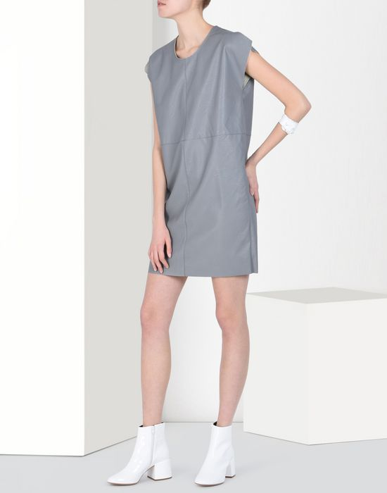 MM6 MAISON MARGIELA Fake leather dress Short dress Woman r