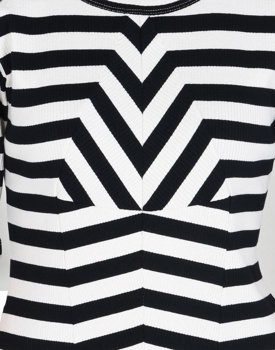 MM6 MAISON MARGIELA Striped rib jersey dress with shoulder detail Short dress D a