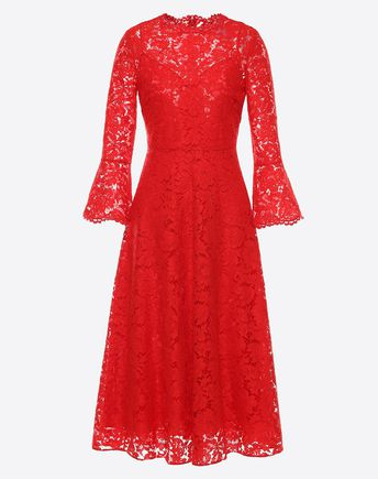 VALENTINO Heavy Lace Dress 34696074HX