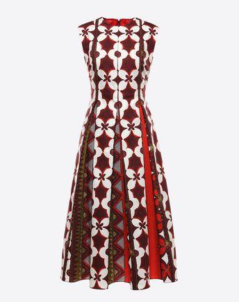 VALENTINO Printed Panama Cotton Dress 34696079QG
