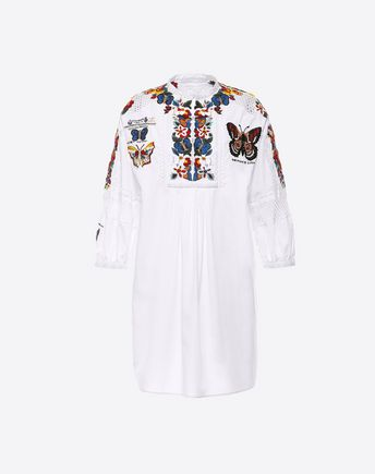 VALENTINO Embroidered Cotton Dress 34696735FC