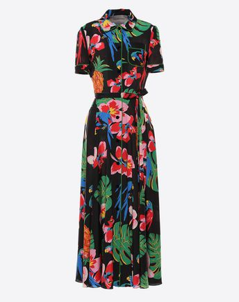 VALENTINO Printed Crêpe de Chine Dress 34698029TU