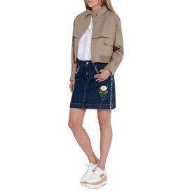 Nashville embroidered denim skirt