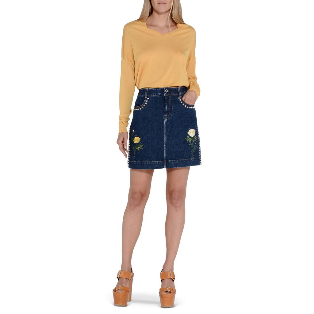 Nashville embroidered denim skirt - STELLA MCCARTNEY