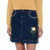 STELLA McCARTNEY Nashville embroidered denim skirt Mini skirt D a