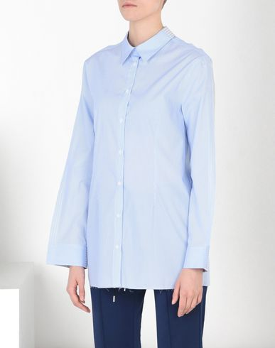 MM6 by MAISON MARGIELA Long sleeve shirt D Striped poplin shirt with back pockets f
