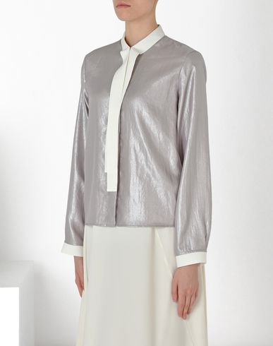 MM6 by MAISON MARGIELA Long sleeve shirt D Silver scarf shirt f